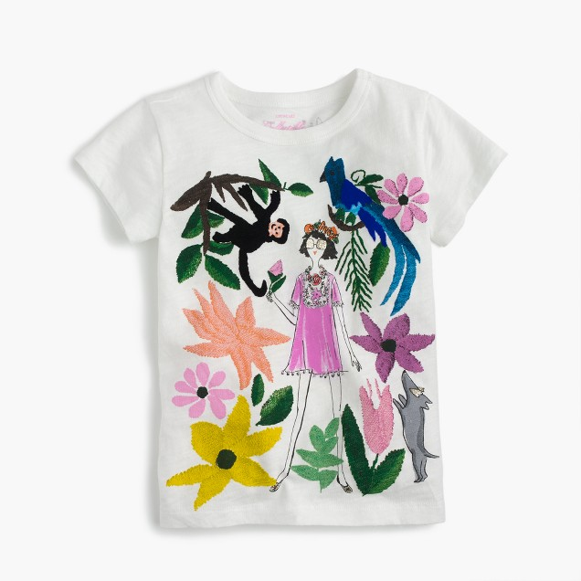 Girls' Olive in Mexico City garden T-shirt