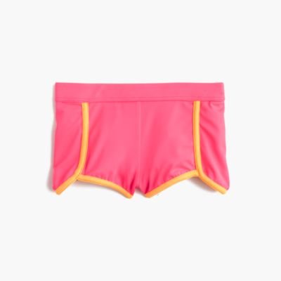 Girls' surf short in neon