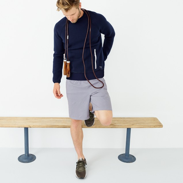 "New Balance® for J.Crew 9"" 2-in-1 workout short in stripe"