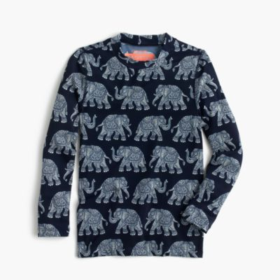 Girls' rash guard in elephant print