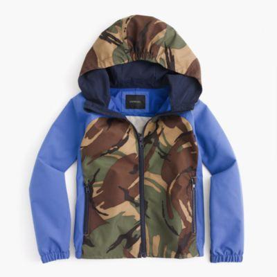 Kids' colorblock camo water-resistant jacket