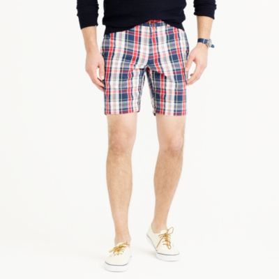"9"" short in navy madras"