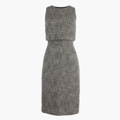 Going-places dress in tweed