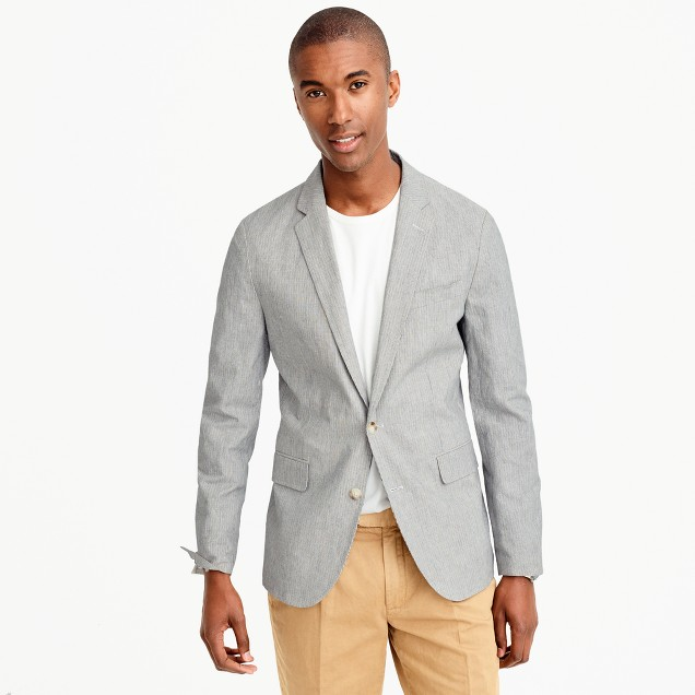 Unstructured Ludlow blazer in cotton-linen