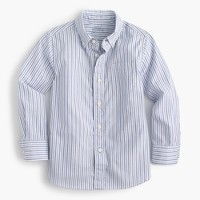 Kids' oxford cotton shirt in muted stripe