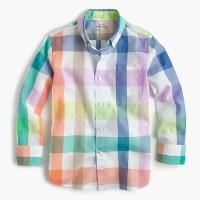 Kids' Secret Wash shirt in pastel gingham