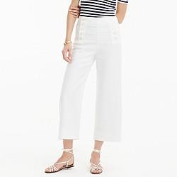 Petite sailor pant in heavy linen