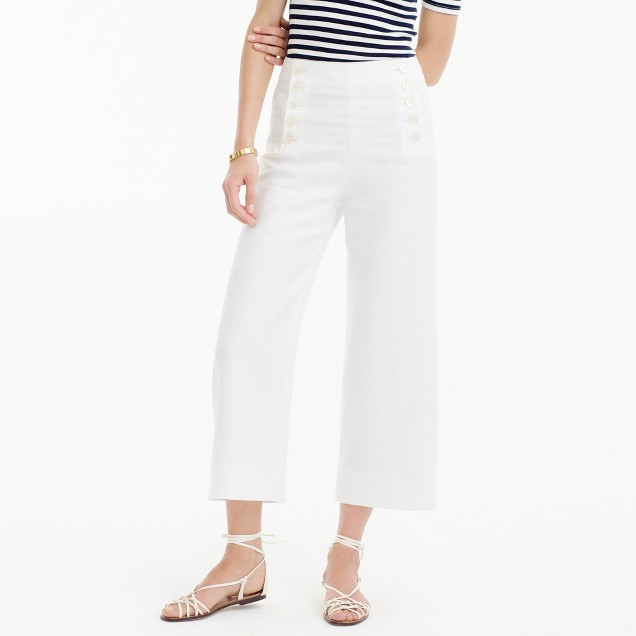 Sailor pant in heavy linen