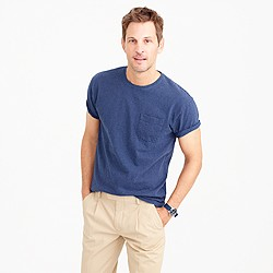 Tall cotton t-shirt in microstripe