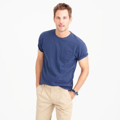 Cotton T-shirt in microstripe