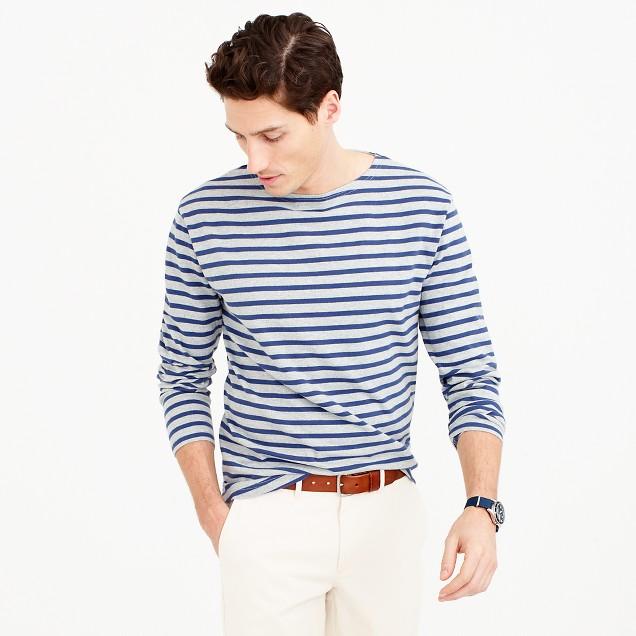 Striped long-sleeve T-shirt in heavyweight jersey