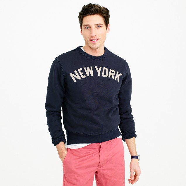 Wallace & Barnes New York chain-stitch crewneck sweatshirt