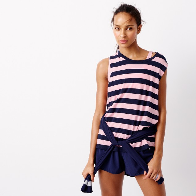 Striped muscle tank top