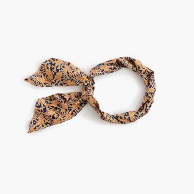Drake's® for J.Crew skinny silk scarf in giraffe print