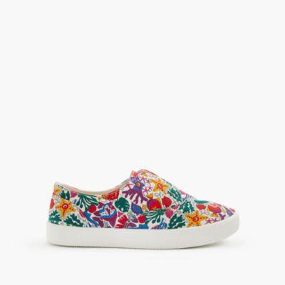 Girls' elastic slide sneakers in Liberty® floral