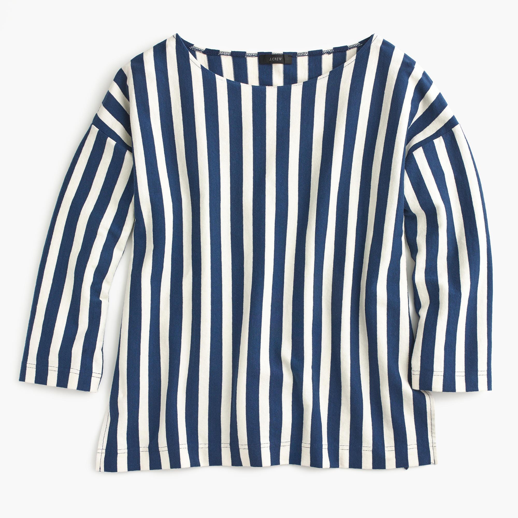 Vertical stripe T-shirt : | J.Crew