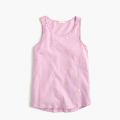 Girls' glitter donut tank top