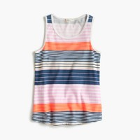 Girls' tank top in multistripe