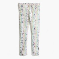 Girls' everyday leggings in rainbow polka dot