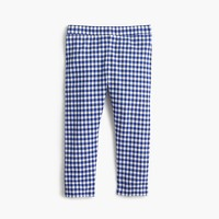 Girls' everyday cropped leggings in gingham