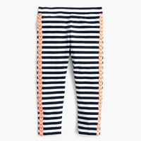 Girls' everyday cropped leggings with chevron tux stripe