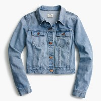 Cropped denim jacket in cavanal wash