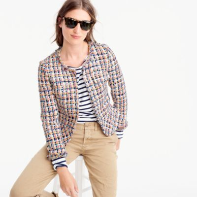 Collection lady jacket in French tweed