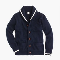 Boys' tipped shawl cardigan