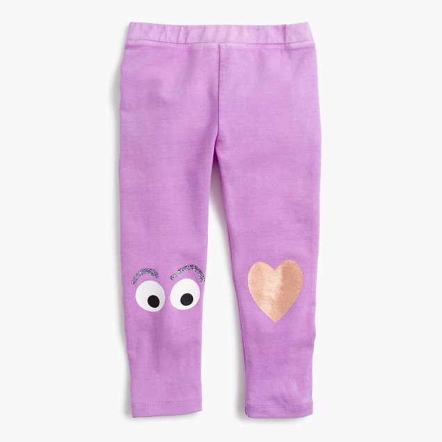 Girls' everyday cropped leggings with Max Monster knee patch