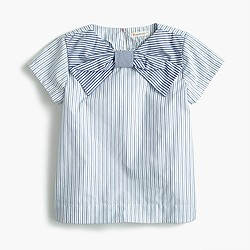 Pre-order Girls' giant bow top in mash-up