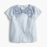 Girls' giant bow top in mash-up