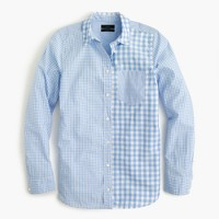 Petite gingham cocktail shirt