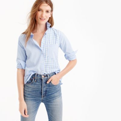 Tall gingham cocktail shirt