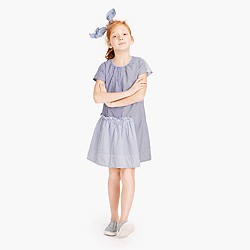 Girls' ruffle dress in mash-up