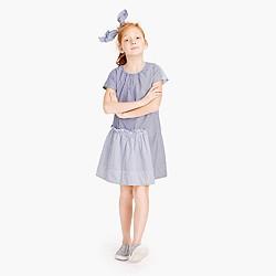 Girls' ruffle dress in mash-up