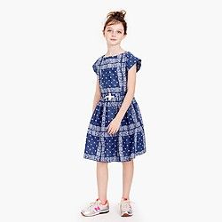 Girls' bandana-print dress