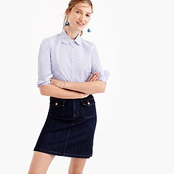 Petite perfect shirt with eyelet trim
