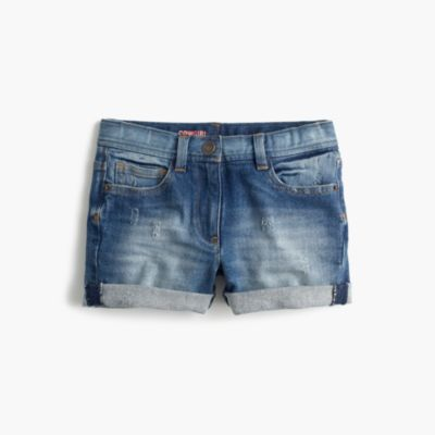 Girls' stretch cowgirl cutoff short in rye wash