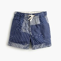 Boys' dock short in patchwork bandana