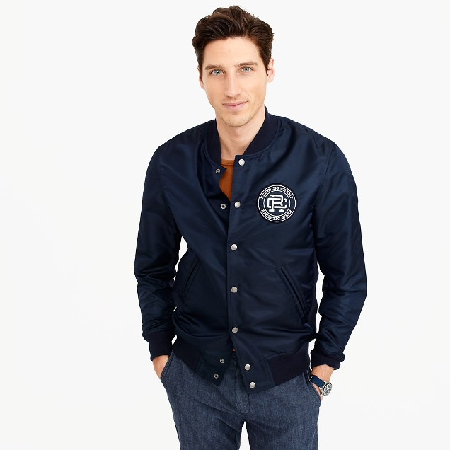 Reigning Champ® patch stadium jacket