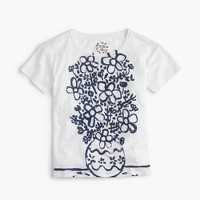 Michael De Feo™ for J.Crew painted daisy vase T-shirt