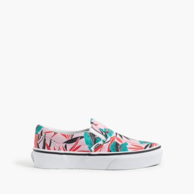 Kids' Vans® classic slip-on sneakers in tropical palm print