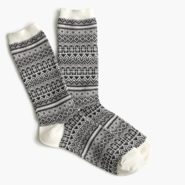 Trouser socks in Fair Isle