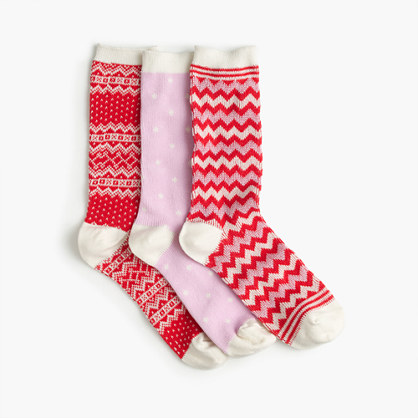 Mixed holiday trouser sock 3-pack