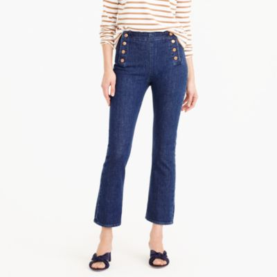 Tall Billie demi-boot crop sailor jean