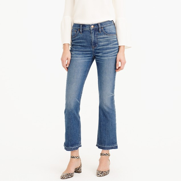 Billie demi-boot crop jean in Collinson wash