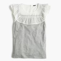 Ruffle bib T-shirt