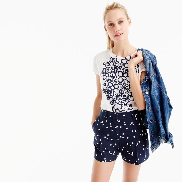 High-waisted polka-dot short