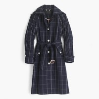 Collection trench coat in windowpane