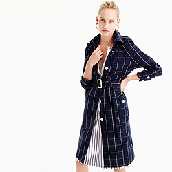 Pre-order Collection trench coat in windowpane